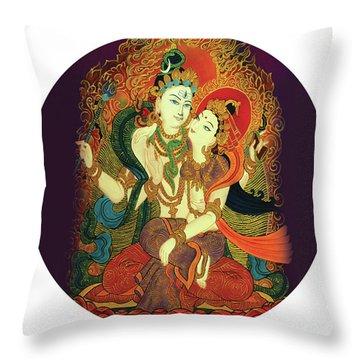 Shiva Shakti Throw Pillow