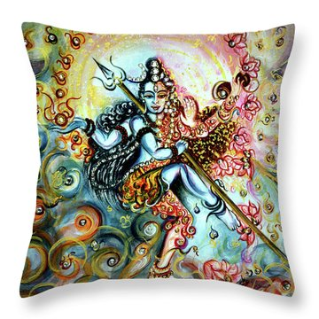 Shiva Shakti Throw Pillow
