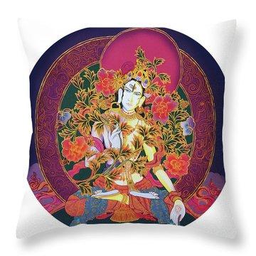 Shiva Shakti Yin And Yang Throw Pillow