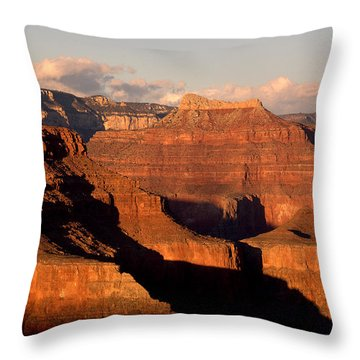 Shiva Temple  At Sunset Grand Canyon National Park Throw Pillow