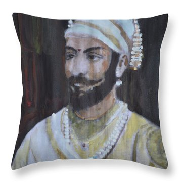 Shivaji Maharaj Throw Pillow