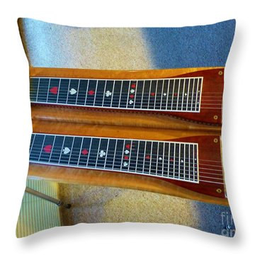 Sho-bud Pedal Steel Throw Pillow
