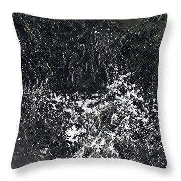 Shoal Of Fish Monochrome Throw Pillow