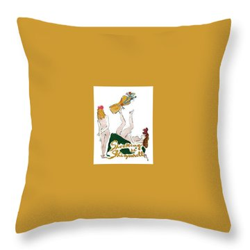 Throw Pillow featuring the digital art Shocked Not by ReInVintaged
