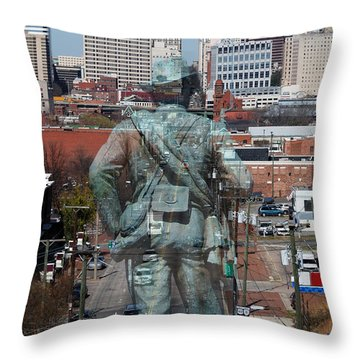 Shockoe Overlook Throw Pillow by Kelvin Booker