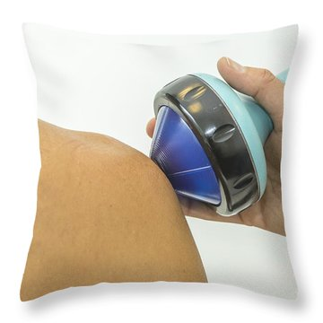 Shockwave Treatment On Shoulder Throw Pillow