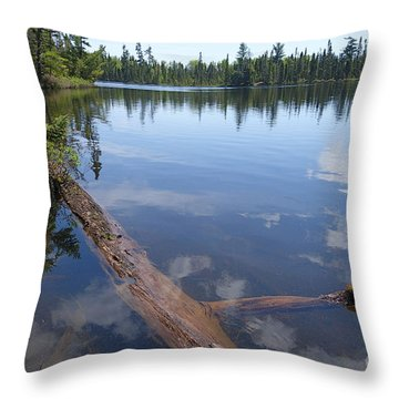 Throw Pillow featuring the photograph Shoe Lake by Sandra Updyke