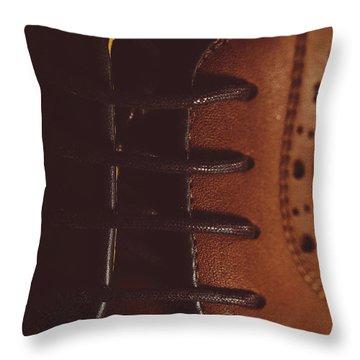 Shoelaces Throw Pillow