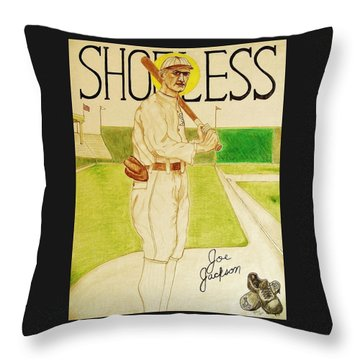 Shoeless Joe Jackson Throw Pillow