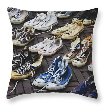 Shoes At A Flea Market Throw Pillow