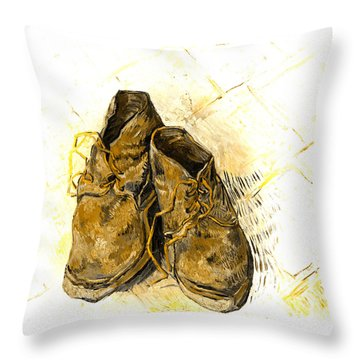 Throw Pillow featuring the photograph Shoes by John Stephens