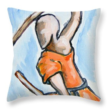 Sholin Monk Throw Pillow
