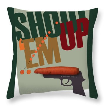Shoot 'em Up Movie Poster Throw Pillow