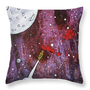 Throw Pillow featuring the painting Shoot For The Stars by Nathan Rhoads
