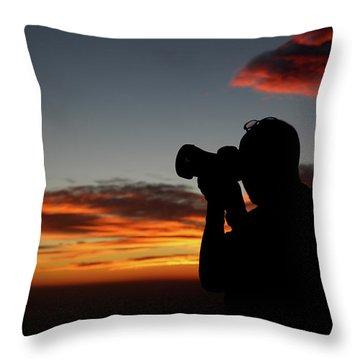 Shoot The Burning Sky Throw Pillow