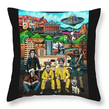 Shooting Stars In New Mexico Throw Pillow