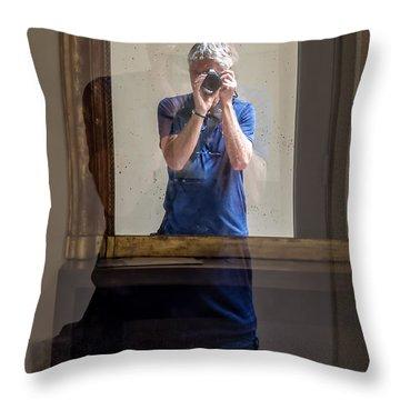 Shooting The Photographer Throw Pillow