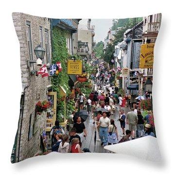 Throw Pillow featuring the photograph Shop Till One Drops by John Schneider