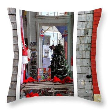 Shop Window Throw Pillow