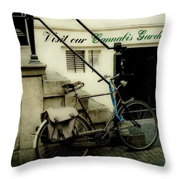 Shopping In Amsterdam Throw Pillow