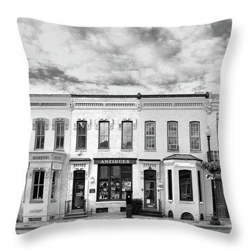 Throw Pillow featuring the photograph Shops by Mitch Cat