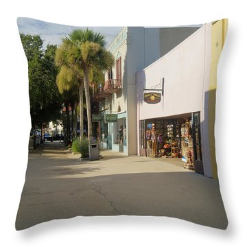 Shops On St George Street  Throw Pillow