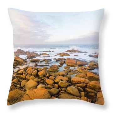 Throw Pillow featuring the photograph Shore Calm Morning by Jorgo Photography - Wall Art Gallery