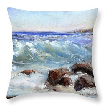 Shore Is Breathtaking Throw Pillow