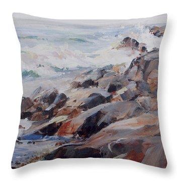 Shore's Rocky Throw Pillow