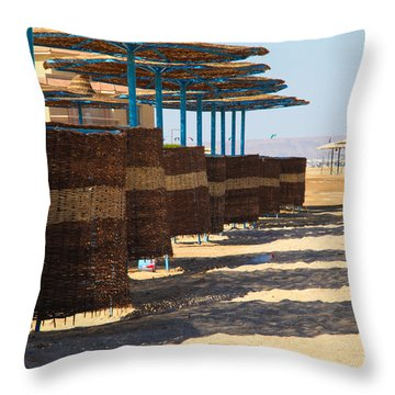 Throw Pillow featuring the photograph Shore Line by Jez C Self