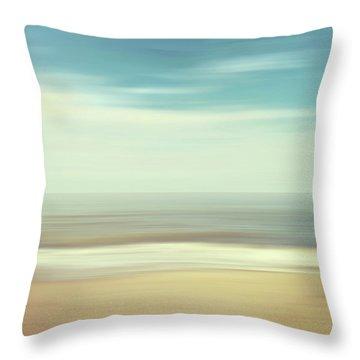 Shore Throw Pillow by Wim Lanclus
