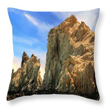 Shorecliffs Near Los Cabos Throw Pillow