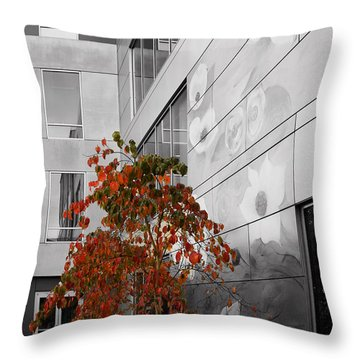 Shoreline City Hall Throw Pillow