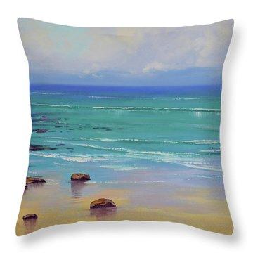 Shoreline Colors Throw Pillow