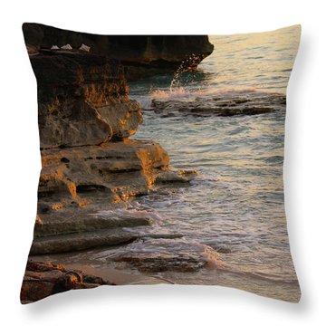 Shoreline In Bimini Throw Pillow