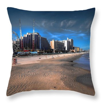 Throw Pillow featuring the photograph Shoreline by Jim Hill