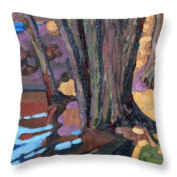 Shoreline Maples Throw Pillow