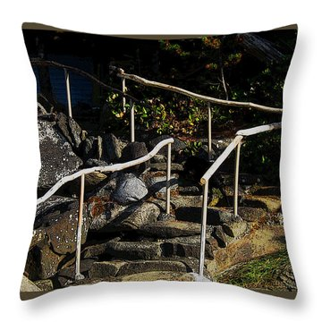 Shoreline Steps  Throw Pillow by Anne Havard