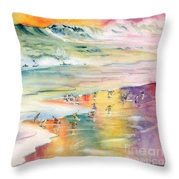 Shoreline Watercolor Throw Pillow