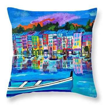 Shores Of Italy Throw Pillow