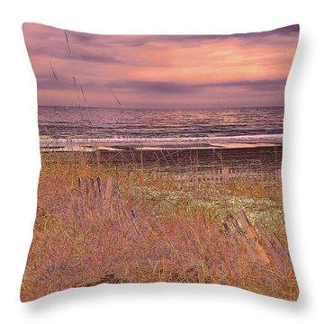 Shores Of Life Throw Pillow