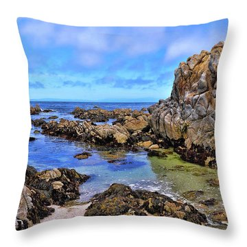 Shores Of Pacific Grove  Throw Pillow by Gina Savage