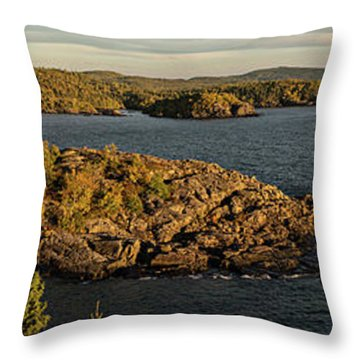 Shores Of Pukaskwa Throw Pillow