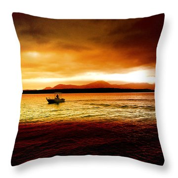 Shores Of The Soul Throw Pillow by Holly Kempe