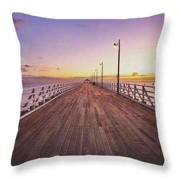 Shorncliffe Pier At First Light  Throw Pillow
