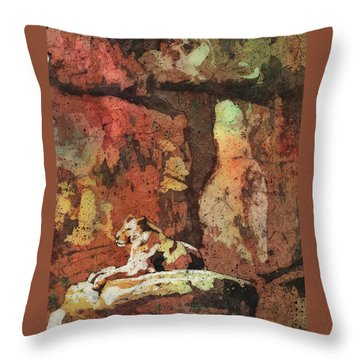 Throw Pillow featuring the painting Short Reprieve by Ryan Fox