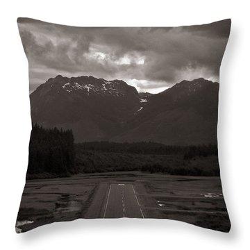 Short Runway Throw Pillow by Darcy Michaelchuk