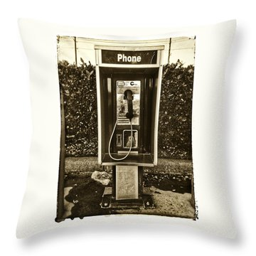 Short Stack Pay Phone Throw Pillow