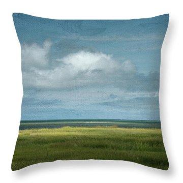 Short Wharf Creek 5 Throw Pillow