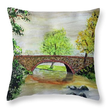 Shortcut Bridge Throw Pillow